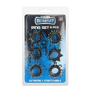 Conjunto 6 Anéis Elásticos para Pénis Preto
