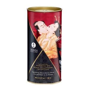 Óleo Massagem Afrodisiaco Champagne Morango 100ml