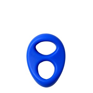 Anel Pénis Duplo Silicone Lit-up Dream Toys Azul