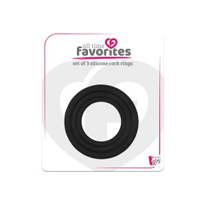 Kit 3 aneis silicone penis ALL TIME FAVORITES