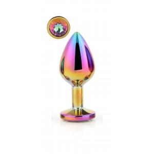 Plug anal medio GLEAMING LOVE Rainbow