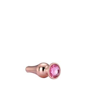 Plug anal cónico GLEAMING LOVE ROSE GOLD L
