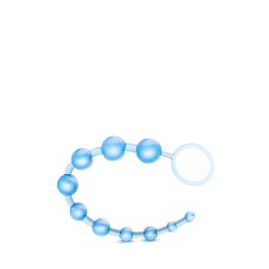 Cordão Pérolas Anal bYours Basic Azul