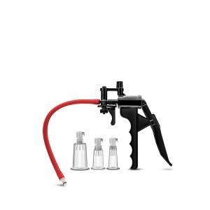 Bomba Vácuo Clitóris/Mamilos Pleasure Pump System Temptasia Preto