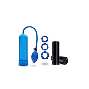 Kit Bomba Vácuo Pénis Quickie Kit Go Big Azul