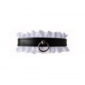 Coleira c/ Renda Fancy Collar Lovely Thinkings Preto/Branco